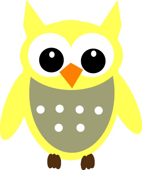 Yellow Gray Owl Clip Art at Clker.com - vector clip art ...