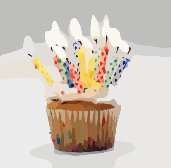 Blurred Birthday Cupcake Candles Clip Art At Clker Com