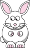 Rabbit Looking Left-down Clip Art