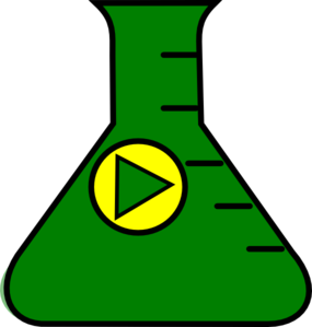 Flask Erlenmeyer Start Green Yellow Clip Art