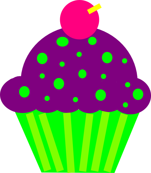 cupcake purple and lime clip art at clker com vector clip art rh clker com cupcake clipart free cupcake clipart images free