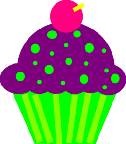 cupcake purple and lime clip art at clker com vector clip art rh clker com cupcake clipart black and white cupcake clipart free download