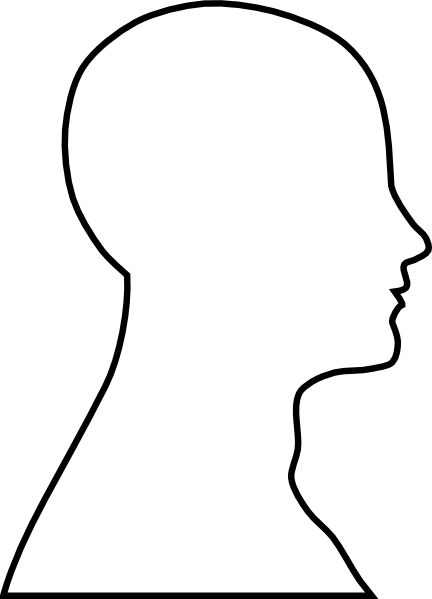 head outline clip art at clker com