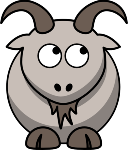 Goat Looking Right-up Clip Art