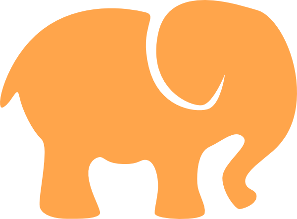 orange white elephant clip art at clker com vector clip art online rh clker com