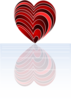 Layered Heart Clip Art