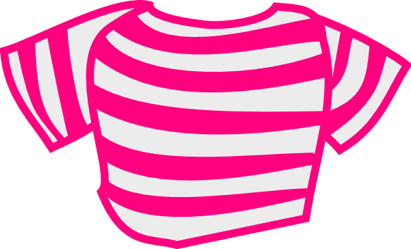 Cartoon Characters Yellow And Black Striped Shirts : Pink striped shirt clip art at clker vector