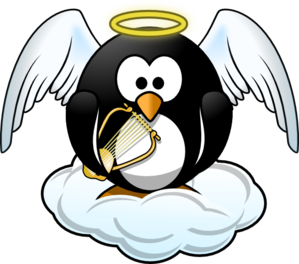 Heavenly Penguin Clip Art