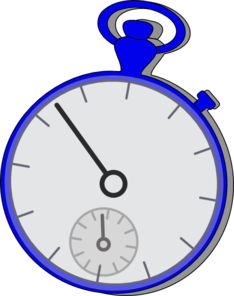 Stop Watch Blue Clip Art