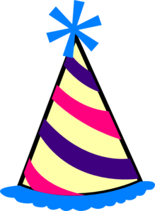 Birthday Hat (blue, Purple, Pink, Yellow) Clip Art