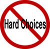 No Hard Choices Clip Art