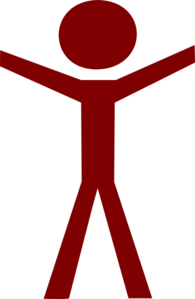 Human Figure Hands Open Red Clip Art