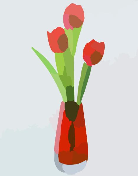 Flower Vase Clip Art At Clker Vector Clip Art Online Royalty
