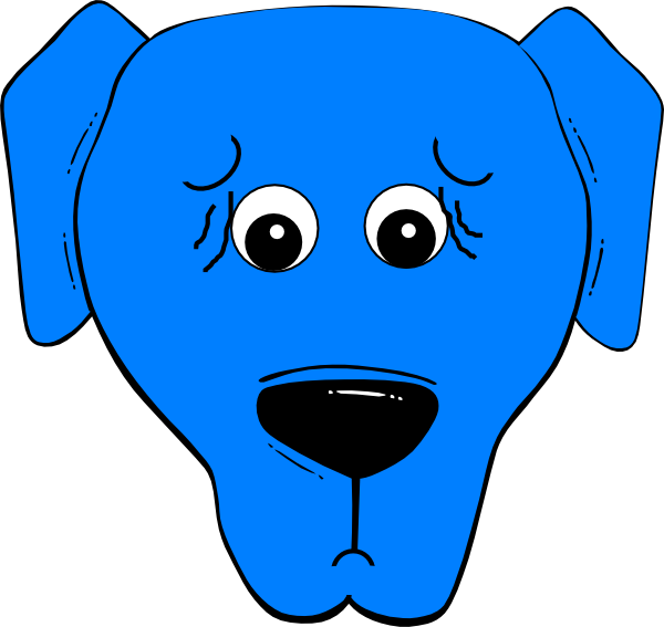 Blue Worried Clip Art at Clker.com - vector clip art ...