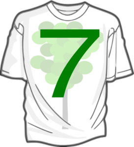 Green 7 T-shirt 7 Clip Art