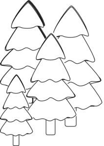 Trees Outline Clip Art