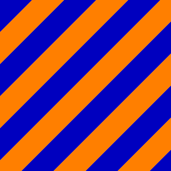 orange and blue