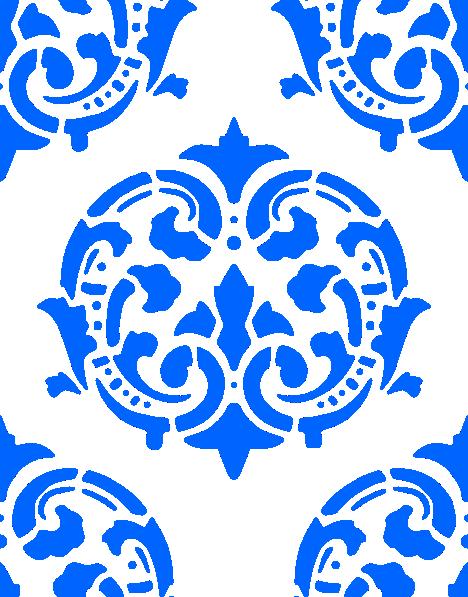 Victorian Pattern Blue Clip Art at Clker.com - vector clip ...