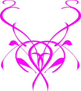 Pink Ink Flourish Clip Art
