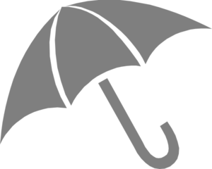 Grey Umbrella Clip Art