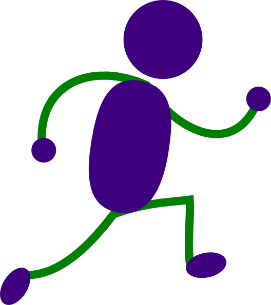 Running Man Purple And Green clip artNo Running Cartoon