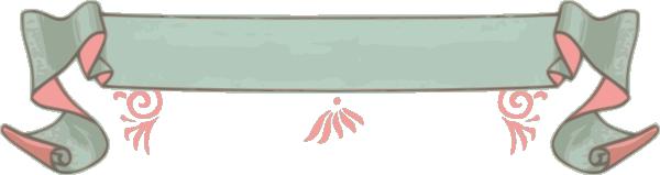 Pink Green Decorative Ribbon Clip Art At Clker Com