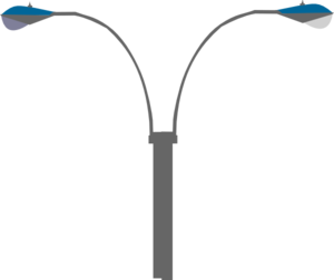 Bigger Twin Street Light Clip Art