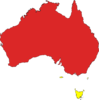 Australia Map Red Clip Art