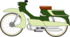 Moped Bike Clip Art