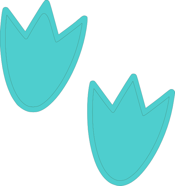 Blue Dino Feet Clip Art at Clker.com - vector clip art ...