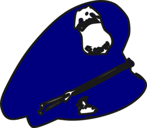 police man hat clip art at clker com vector clip art online rh clker com  cop hat clipart