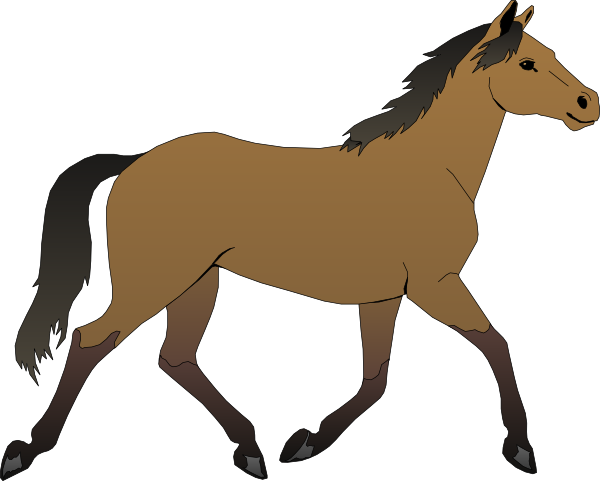 Horse running clipart - photo#2