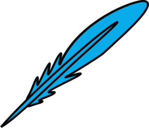 Feather Blue Black Clip Art