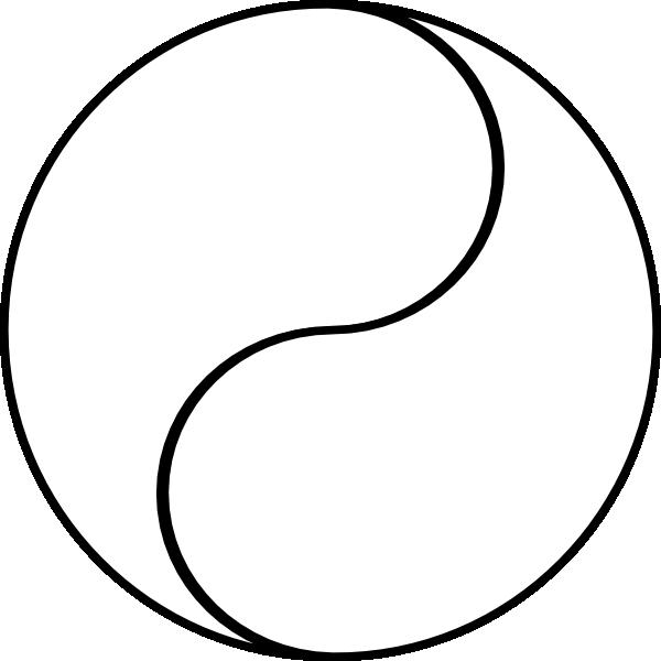 blank yin yang clip art at clker com vector clip art online rh clker com yin yang symbol vector art Vector Art Stars That Shine