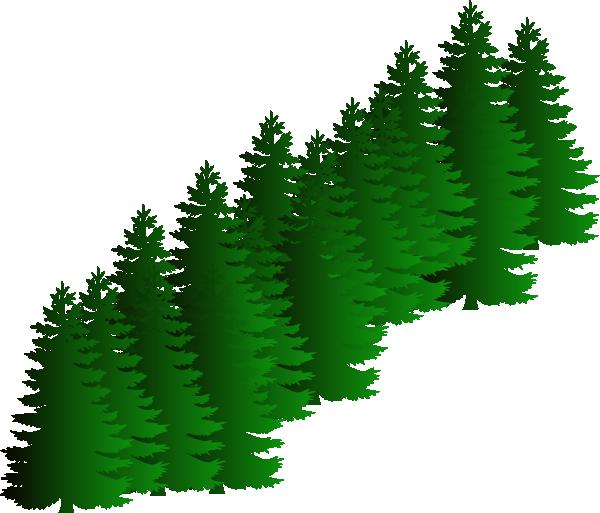 Evergreen Cluster Clip Art at Clker.com - vector clip art online ...