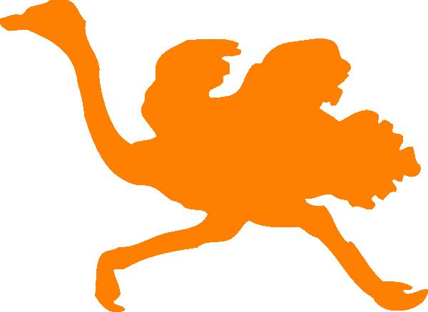 orange ostrich clip art at clker com vector clip art online rh clker com clipart ostrich head in sand ostrich clipart free