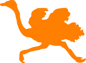 Orange Ostrich Clip Art