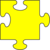 Yellow Puzzle Piece Top Clip Art