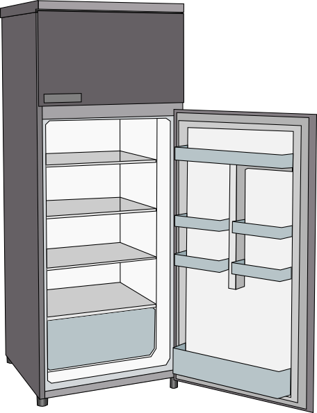 Open refrigerator clip art at vector clip art for 0 1 couch to fridge
