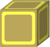 Block Plain Yellow Clip Art