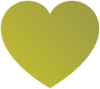 Gold Heart Clip Art
