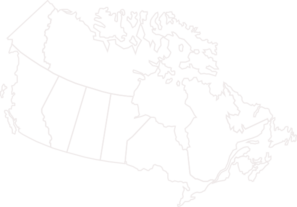 Canada Map Grey Outline Clip Art