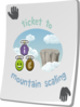 Paradise Ticket Mountain Scaling Clip Art