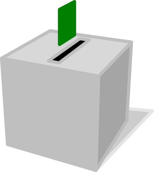 Voting Booth Clip Art Voting box clip art - vector