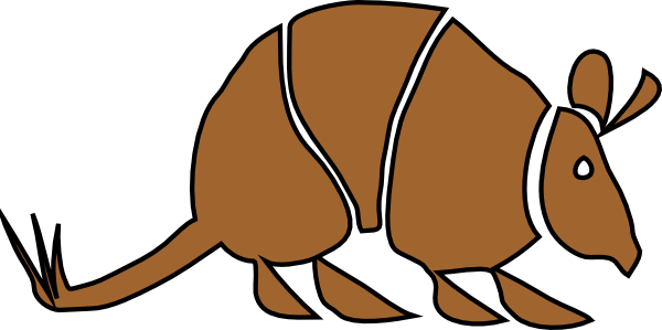 brown armadillo clip art at clker com vector clip art online rh clker com armadillo clipart black and white armadillo clip art free