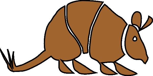 brown armadillo clip art at clker com vector clip art online rh clker com armadillo clipart images cute armadillo clipart