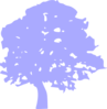 Blue Tree Sihlouette Clip Art
