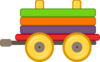 Loco Train Carriage Clip Art