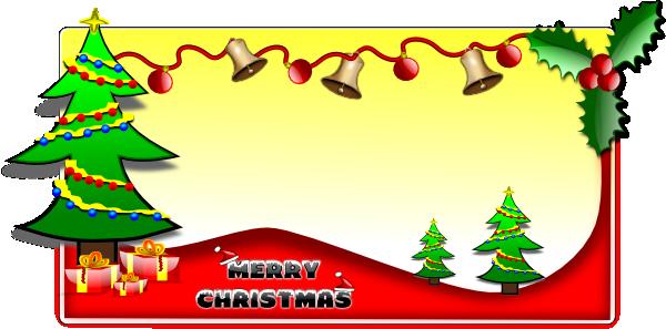 Christmas Card Clip Art at Clker.com - vector clip art ...