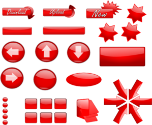 Red Glossy Buttons Clip Art